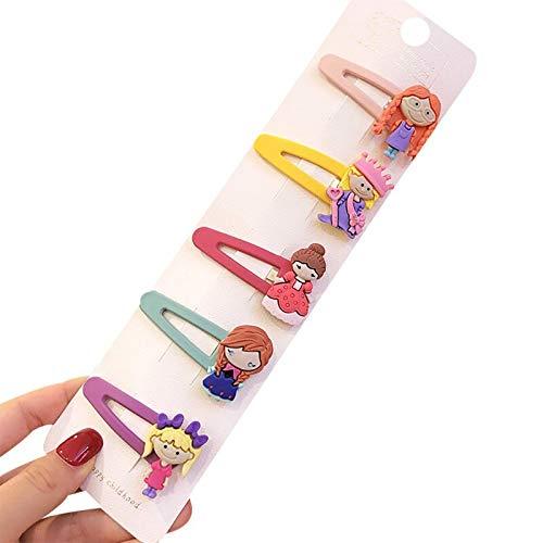 pinces à cheveux 5 Pcs/Ensemble Filles Fruits Sequin Princesse Brillant Coloré Pinces À Cheveux Doux Chapeaux Accessoires De Cheveux Épingles À Cheveux