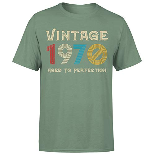 Classic Vintage 1970 Aged to Perfection 51st Birthday Gift Mens T-Shirt regalo para él