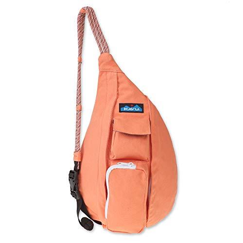 KAVU Mini Rope Bag Cotton Crossbody Sling  - Peach