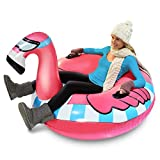 GoFloats Winter Snow Tube - Inflatable Toboggan Sled for Kids and Adults (Choose from Unicorn,…