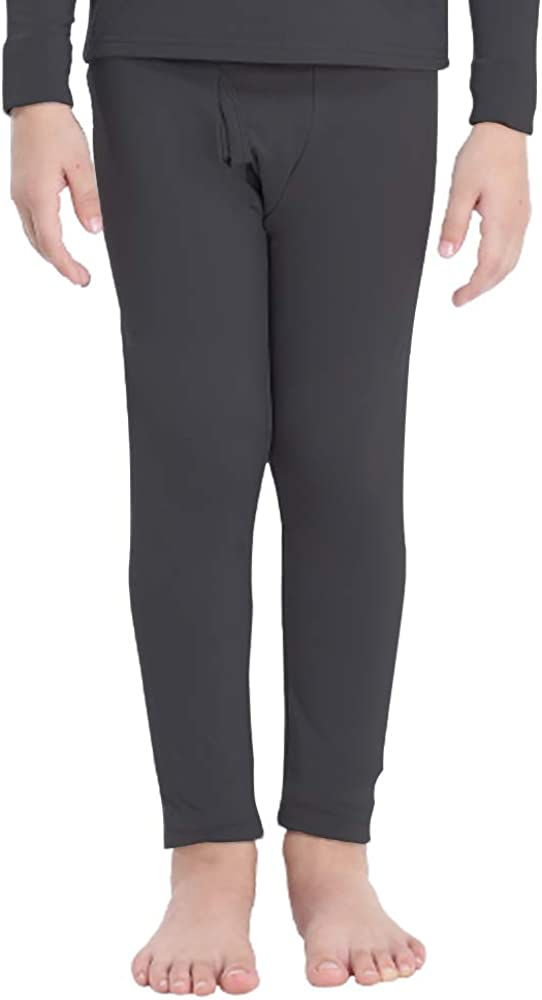 Subuteay Boys Thermal Bottoms Fleece Lined Leggings Long Underwear Pants
