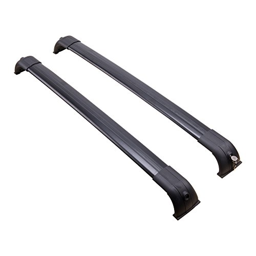 OrionMotorTech Roof Rack Cross Bar Aluminum Alloy for Land Rover Discovery LR3 & LR4 Baggage Luggage Rail Kit