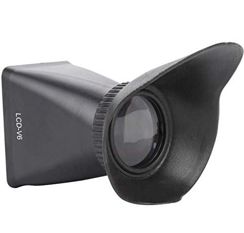 LCD Viewfinder,2.8X View Finder,LCD Screen Magnifying Viewfinder Magnifier Viewer,with Extender Hood,for Camera(V6)