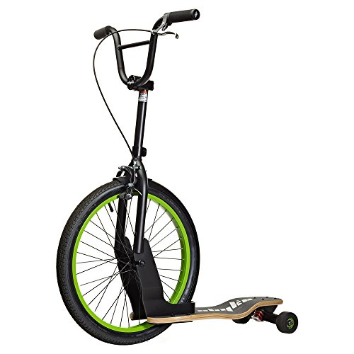 Sbyke P-20 Scooter Skateboard Matte Schwarz/Lime Green Trails Roads S-Byke