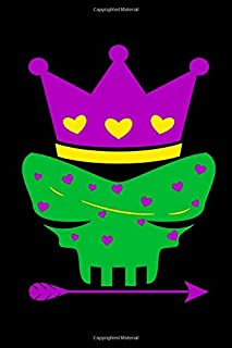 Skull Queen Mardi Gras Carnival New Orleans Louisiana Parade Cajun Ruled Notebook: Blank Lined Journal for a Beads Lover, ...
