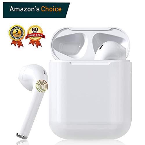 Preisvergleich Produktbild Bluetooth-Kopfhörer 5.0, Kabellose Kopfhörer IPX7 wasserdichte, Noise-Cancelling-Kopfhörer, Geräuschisolierung, mit 24H Ladekästchen und Mikrofon für Android / iPhone / Samsung / Apple AirPods Pro