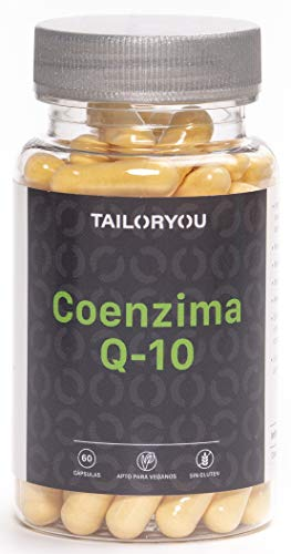 TAILORYOU Coenzima Q10- 100 mg por Cápsula - 60 Cápsulas Vegetales de Tratamiento...