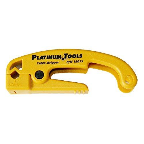 Platinum Tools 15015C Cat5/6 Cable Jacket Stripper , Yellow