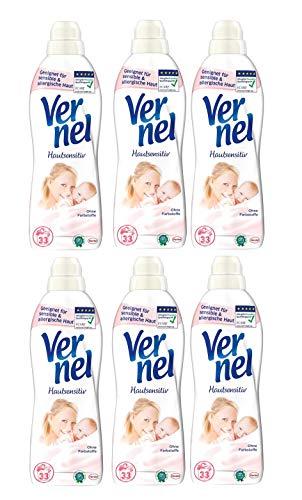 Vernel Hautsensitiv, Weichspüler Waschmittel (198 (6 x 33) Waschladungen)
