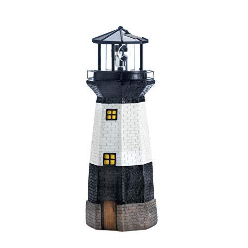 Summerfield Terrace Solar-Powered Garden Lighthouse with Spinning Light