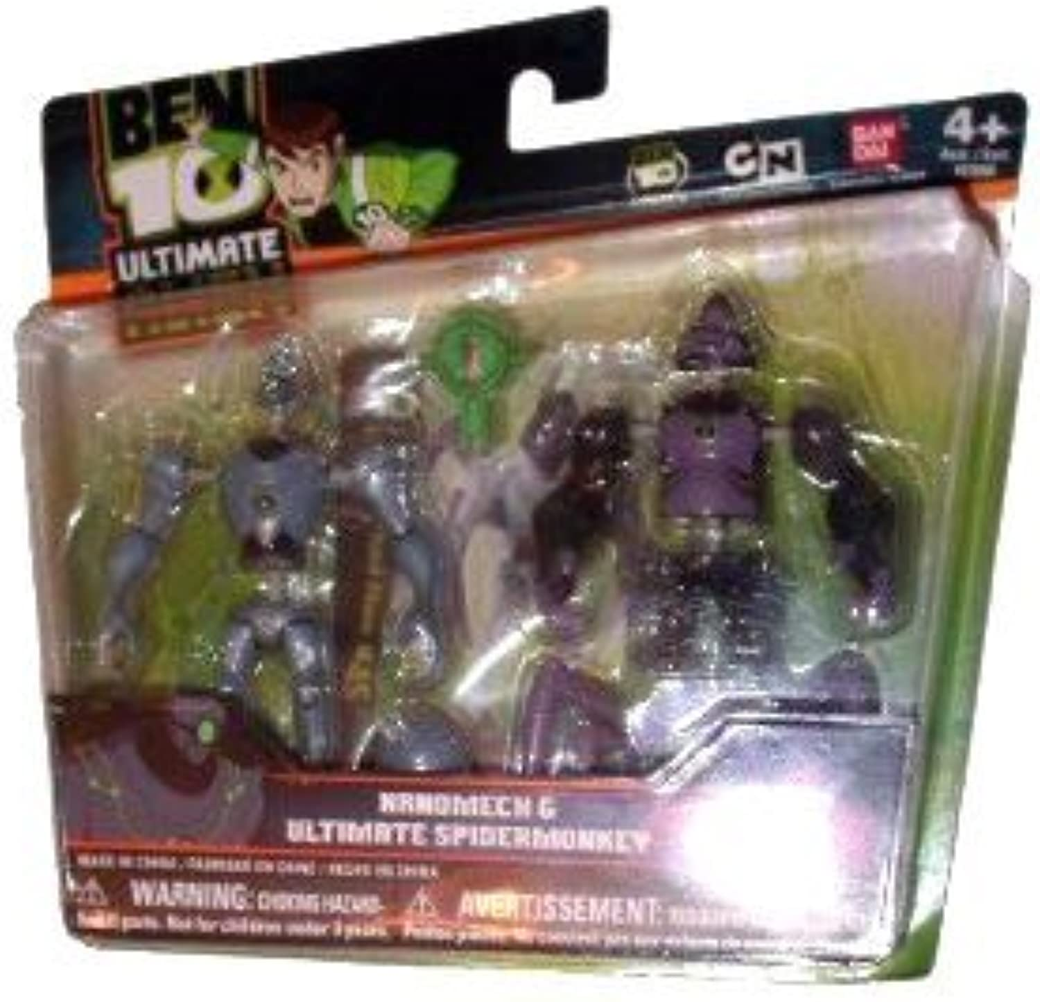 Ben 10 Alien Creation Chamber Figure Set  Ultimate Spidermonkey and Nanomech by Ben 10