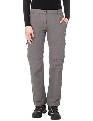 Ultrasport Damen Outdoor Trekkinghose 100 Trekkinghose, Grau - lang geschnitten, L, 10564-L