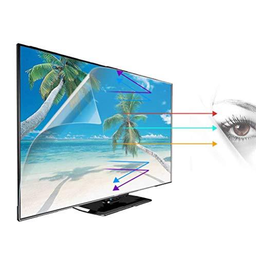 """WLWLEO Película Protectora de Pantalla contra luz Azul de 32-75 Pulgadas Protector de Pantalla de Monitor de TV Mate Antirreflectante Reduce la Fatiga Ocular para LCD LED OLED HDTV,65"""" 1429X804mm"""