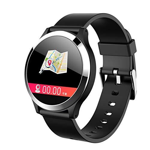 Aomili B65 Smart Watch Armband EKG Blutdruck Herzfrequenz Farbdisplay Messung intelligente Gesundheit Armband,Herzfrequenzüberwachung Schrittzähler Sport Bluetooth (schwarz)