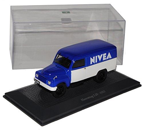 Hanomag L28 LKW Transporter Blau 1953 Nivea 1/43 Atlas Modell Auto