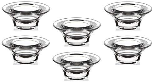 6 Stück Eierbecher Eierhalter rund Glas Kristallklar Frühstück Geschirr Küche 8 cm