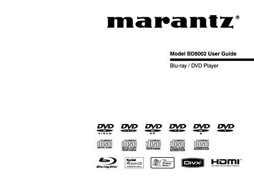 Marantz BD8002 Blu-Ray Player Owners Instruction Manual Reprint [Plastic Comb]