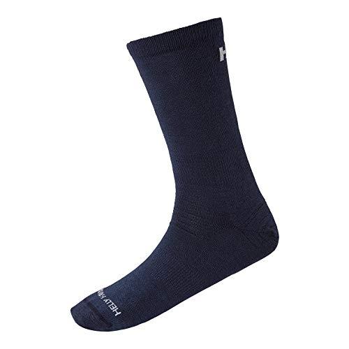 Helly Hansen Herren Merino Light Liner Socken, Navy, 45-47
