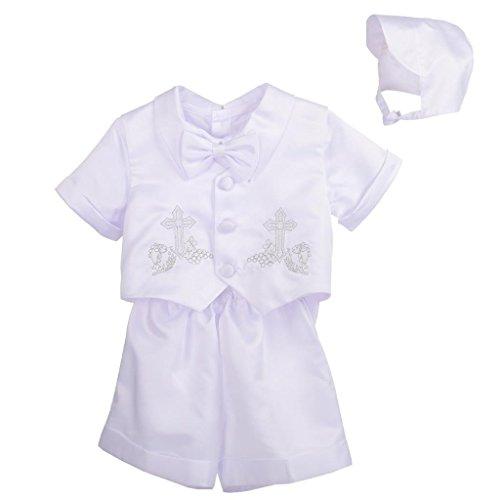 Lito Angels - Ropa de bautizo - para bebé niño blanco Style A 12 Meses