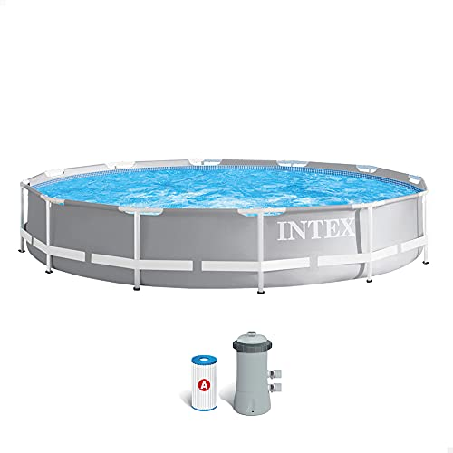 Intex 26712NP Piscina redonda sobresuelo, con depuradora, 366 x 76 cm