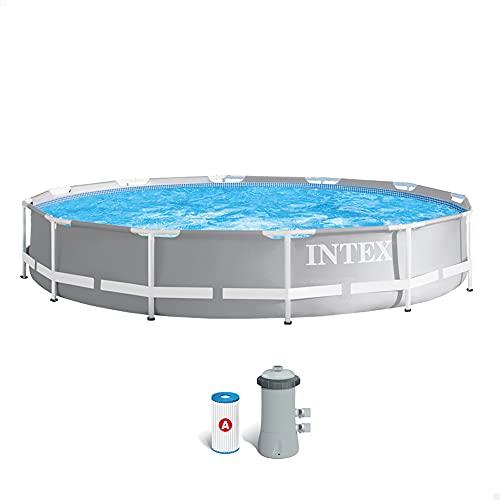 Intex 26712NP - Piscina desmontable redonda INTEX Prism Frame con depuradora