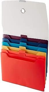 Staples 354576 Cascading Poly Expanding File Letter Size 6-Pocket Multicolor