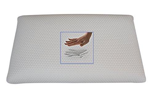 Orthopädisches Visco Kopfkissen 80 x 40 x 18 cm Visko Memory Schaum Nackenkissen viscoelastisches Nackenstützkissen viskoelastisches Schlafkissen softes / weiches Kissen gegen Kopfschmerzen + Verspannungen