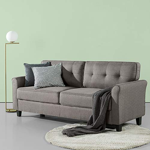ZINUS Sayan Sofa Couch / Easy, Tool-Free Assembly, Sand Grey