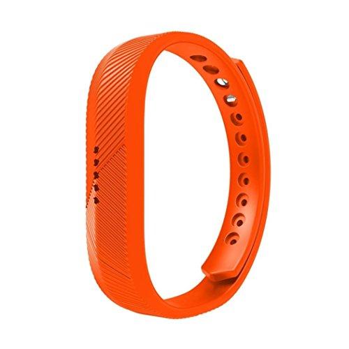 hunpta Uhrenband, Silikon, weich, für Fitbit Flex 2Smart Watch, Orange