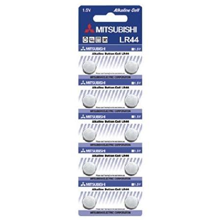 MITSUBISHI 三菱 アルカリボタン電池LR44/AG13 逆輸入品 10P
