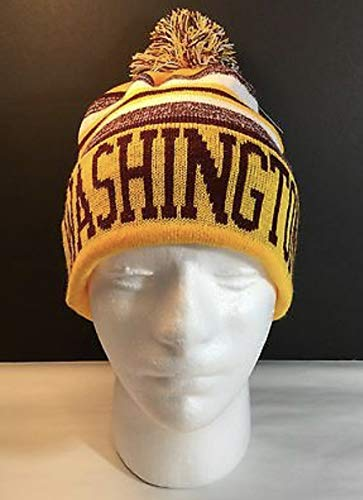 New York Headwear Washington Redskins Farbe Pom Pom Beanie Sideline Cuffed Knit Hat