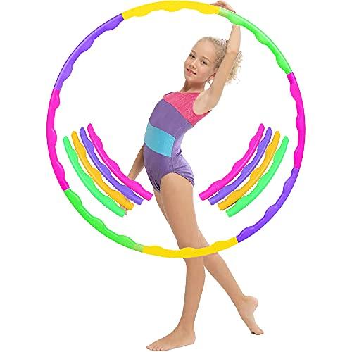 Aro de Hula Hoop para Adultos y niños, Hula Hoop para Deportes e Ejercicios, Hula Hoop Fitness Desmontable, Hula Hoop Fitness,Hula Hoop para niños.