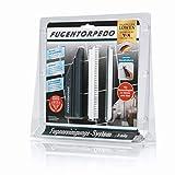 FUGENTORPEDO - Set di pennelli per la pulizia di fughe diamantate per piastrelle, spazzola per pulizia e sega, resistente per doccia, bagno, cucina, pavimento