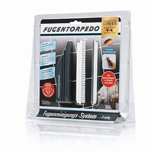 Fugentorpedo Fugenreinigungs-Werkzeug-Set mit Diamant-Schleifstreifen, Fugenreiniger, Bürste und Säge, strapazierfähig, für Dusche, Badezimmer, Küche, Boden, einfacher Fugenreiniger