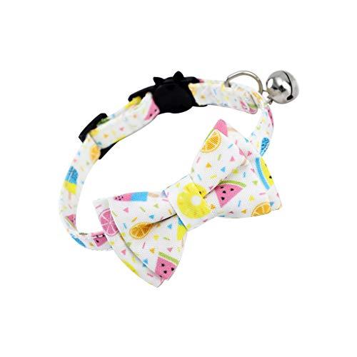 Junecat Mascotas Pajarita Collar Ajustable Adorable Bowknot