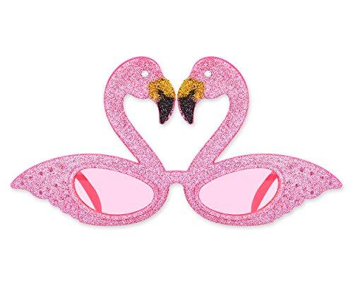 SCSpecial Party Sonnenbrille Hawaii Flamingo Sonnenbrille Neuheit Brillen für Kinder Kostüm (Rosa)