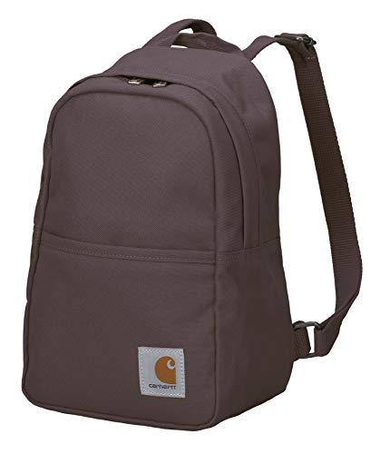 Carhartt Mini Backpack, Everyday Essentials Daypack for Men and Women, Wine