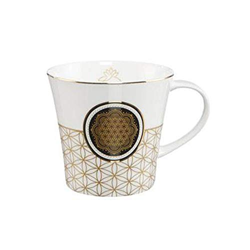 Goebel Blume des Lebens Weiß - Coffee-/Tea Mug Lotus Yin Yang Bunt New Bone China 23101271