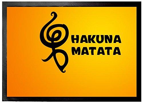 1art1 Motivación - Hakuna Matata Felpudo Alfombra (70 x 50cm)