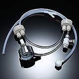 Galapara DIY Co2 Diffuseur, Système Co2 Générateur avec Testeur de Pression et Valve de Contrôle du Flux d'air pour Plantes et Aquarium Accessoire Nécessité
