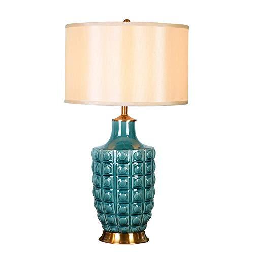 Lámpara de mesaLámpara de mesa de cerámica, lámpara de mesa de cerámica oriental oriental antigua grande, estilo chino de la mandarina. Salones y dormitorios