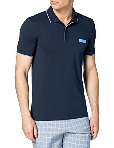 BOSS Paul Batch Camisa de Polo, Navy411, M para Hombre