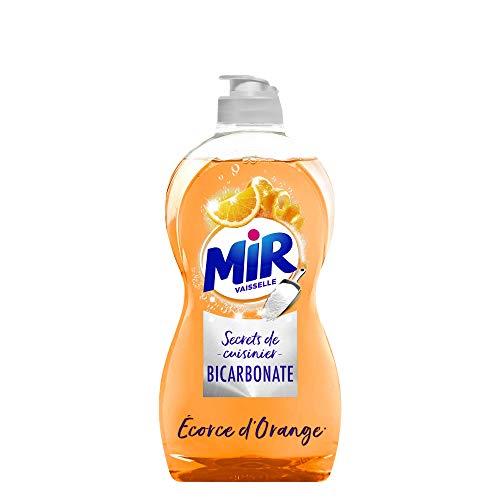 Mir Vaisselle Secrets de Cuisinier – Liquide Vaisselle (500mL) – Bicarbonate & Ecorce d'orange – Vaisselle Main