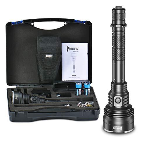 WUBEN H8 1000m Hoher Reichweite LED Taschenlampe Wasserdichte 1800 Lumen CREE XHP35 HI LED Wiederaufladbare 6 Modi für die Jagd im Freien Wandern Camping