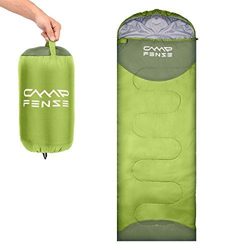CampFENSE Sacchi a Pelo(180 ×75 cm, Temperatura nominale: 30 ℉ -60 ℉) Estremamente Leggero Sacco a Pelo Invernale Adulto, con la Sacca di Trasporto (Verde Chiaro)