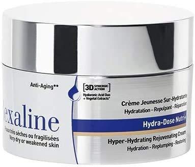 Rexaline Hydra-Dose Nutri+ - jugendspendende, optimale Feuchtigkeitspflege - Anti-Falten Creme mit Hyaloronsäure - Anti-Agingpflege - Tages und Nachtcreme - sehr trockene Haut - 50 ml