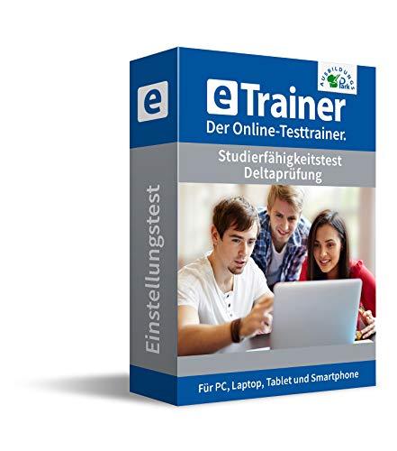 Studierfähigkeitstest / Deltaprüfung 2020: eTrainer – Der Online-Testtrainer | Über 1.800 Aufgaben mit Lösungen: Allgemeinwissen, Sprache, Mathe, Logik, Konzentration und mehr | Eignungstest üben