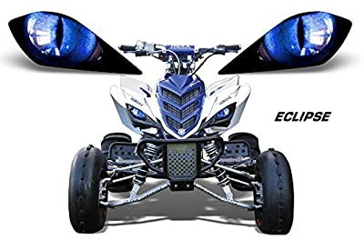 AMR Racing ATV Headlight Eye Graphic Decal Cover for Yamaha Raptor 700/250/350 - Eclipse