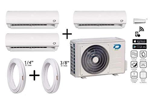 Diloc Frozen MultiSplit airconditioning Inverter Trial gas R32 compressor Sharp D.FROZEN360 (9+9+12) D.FROZEN9 x 2 + D.FROZEN12) + koperen buizen 1/4
