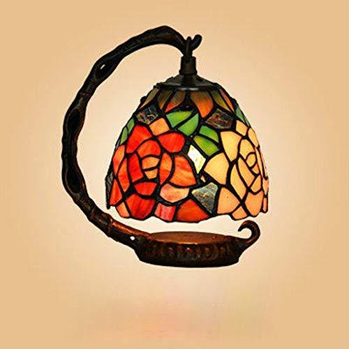 BJLWTQ Personalidad Simple Continental Hierro llevada Creativa lámpara de Escritorio, lámpara de cabecera del Dormitorio, luz de la Noche luz de la Noche de Lectura